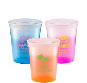 Personalized Luau Color-Changing Plastic Stadium Cups 16oz