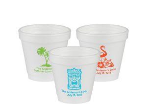 Personalized Luau Foam Cups 4oz