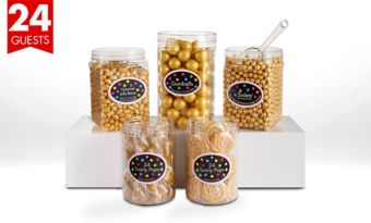 Gold Candy Buffet Kit for 24 Guests