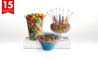 Rainbow Candy Buffet Kit with Containers for 15 Guests