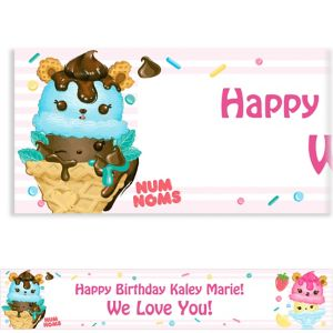 Custom Striped Num Noms Banner