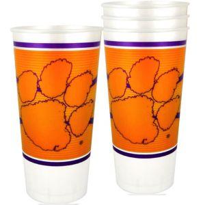 Clemson Tigers Plastic Cups 4ct
