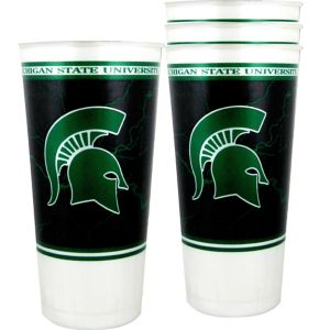 Michigan State Spartans Plastic Cups 4ct