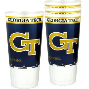 Georgia Tech Yellow Jackets Plastic Cups 4ct