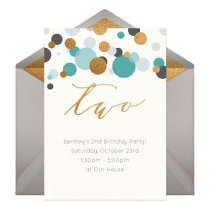 Online Two Blue Invitations