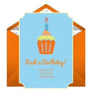 Online Birthday Cupcake Invitations