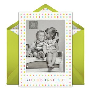 Online Photo Dots Photo Invitations