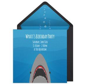 Online Shark Invitations