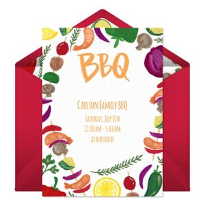 Online Summer Cookout Invitations