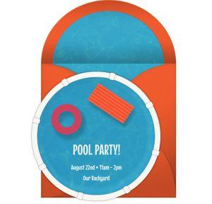 Online Pool Die Cut Invitations