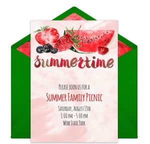 Online Summertime Fruit Invitations