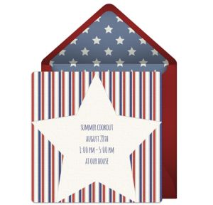 Online Patriotic Star Invitations