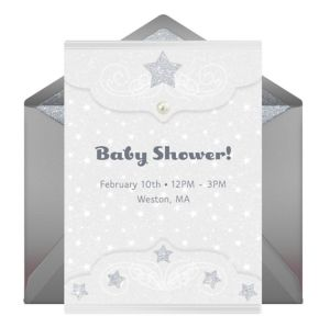 Online Sparkling Star Invitations