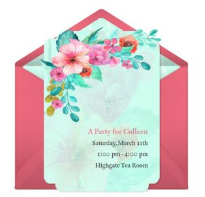 Online Watercolor Bridal Shower Invitations