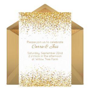 Online Golden Day Invitations