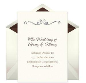Online Delicate Design Invitations