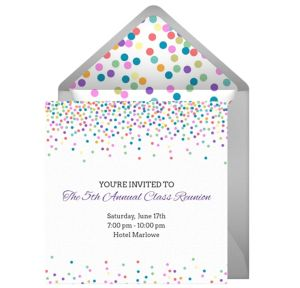 Online Reunion Dots Light Invitations