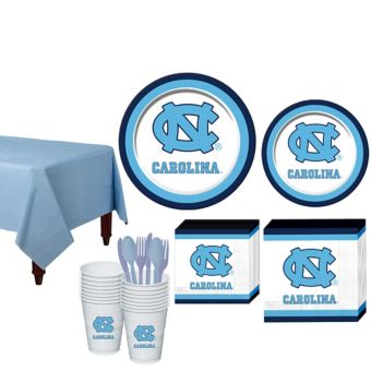 North Carolina Tar Heels Basic Party Kit for 16 Guests