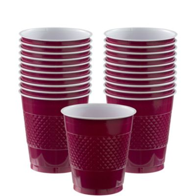 Berry Plastic Cups 20ct