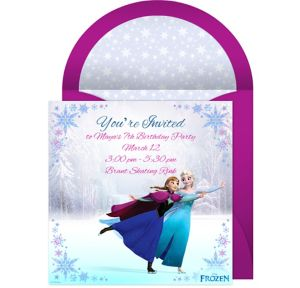 Online Frozen Ice Skating Invitations