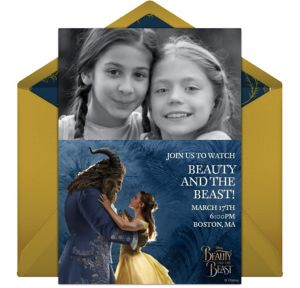 Online Beauty and the Beast Photo Invitations