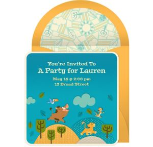 Online The Lion King Invitations