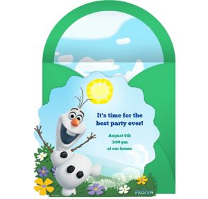 Online Frozen Olaf Invitations