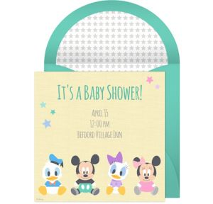 Online Disney Baby Shower Invitations