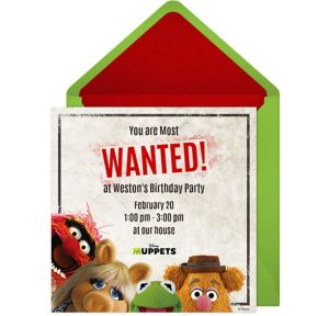 Online Muppets Most Wanted Invitations