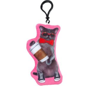 Clip-On Hipster Cat Plush