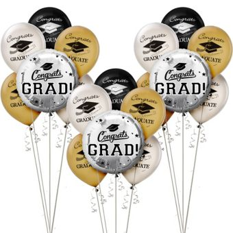 Silver Graduation Balloon Kit