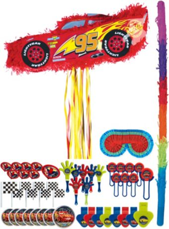 Lightning McQueen Car Pinata Kit with Favors – Cars 3