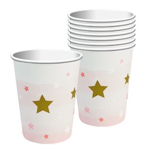 Pink Twinkle Twinkle Little Star Cups 8ct
