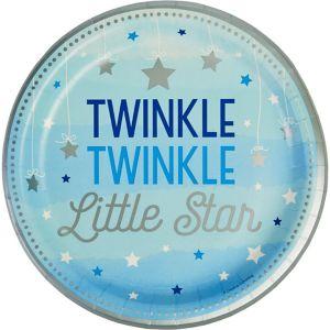 Blue Twinkle Twinkle Little Star Lunch Plates 8ct