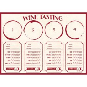 Wine Tasting Placemats 24ct