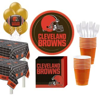 Cleveland Brown Deluxe Party kit for 36 Guests