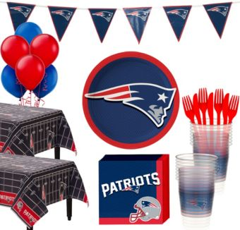 New England Patriots Deluxe Party kit for 36 Guests