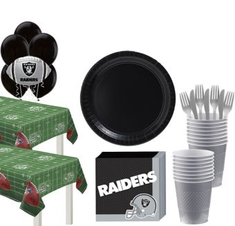Oakland Raiders Deluxe Party kit for 36 Guests