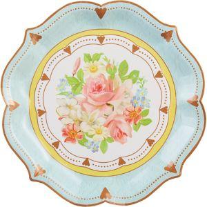 Floral Tea Party Ornate Serving Plates 8ct