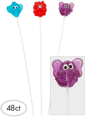 Animal Sparklepops Lollipops 48ct