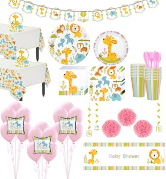 Happy Jungle Giraffe Premium Baby Shower Party Kit for 32 Guests