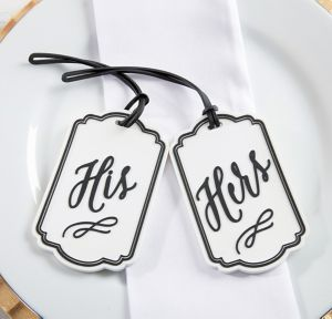 His and Hers Luggage Tags 2ct