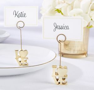 Gold Love Place Card Holders 6ct