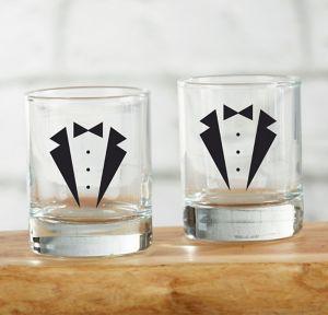 Tuxedo Shot Glasses 4ct