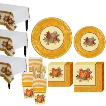 Bountiful Holiday Tableware Kit for 32 Guests