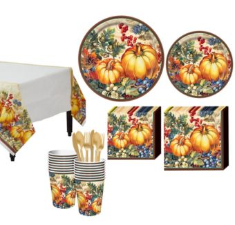 Warm Harvest Tableware Kit for 32 Guests