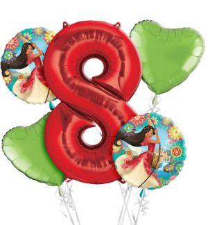 Elena of Avalor 8th Birthday Balloon Bouquet 5pc