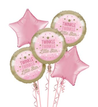 Pink Twinkle Twinkle Little Star Balloon Bouquet