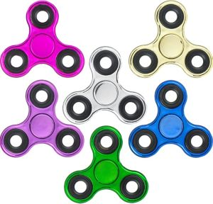 Metallic 3-Sided Fidget Spinner