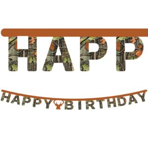 Hunting Camo Birthday Banner